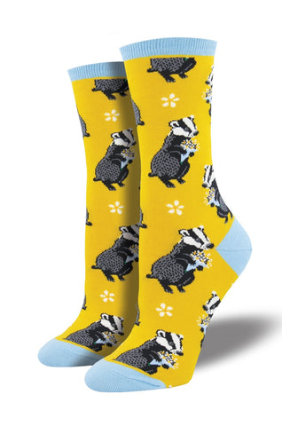 Bashful Badger Socks