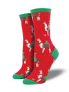 Socksmith Fa La Llama La - Red, Women's Socks