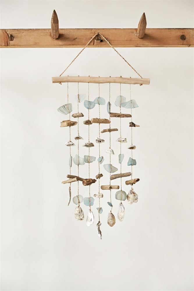 Driftwood, Sea Glass & Shell Hanging Wind Chime