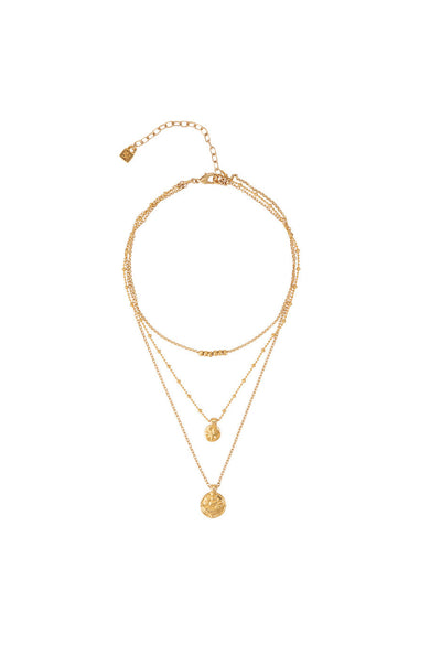 Uno de 50 Las Americas Triple Gold Necklace