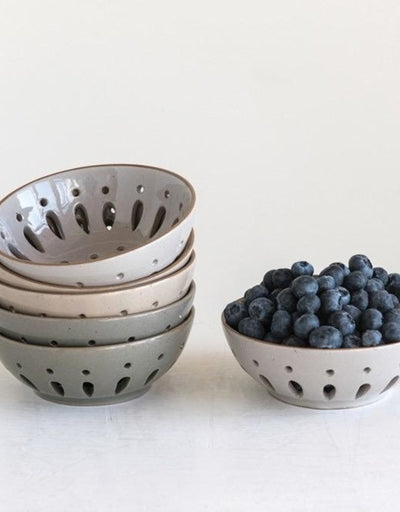Neutral Stoneware Berry Bowl