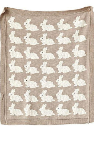 Bunny Throw Baby Blanket