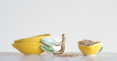 Stoneware Lemon Pinch Pot