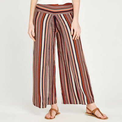 Apricot Tribal Wrap Plazzo Trousers