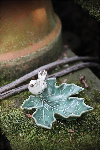 Leaf Dish With Bird