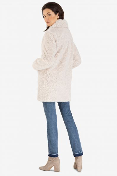 Tribal Lux Sherpa Cream Coat