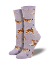 Shiba Inu Socks-Purple Heather