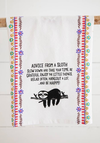 Natural Life Advice From A Sloth Flour Sack Towel