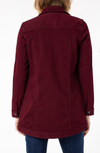 Liverpool High-Low Ruby Port Shirt Jacket