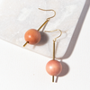 Blush Ball On Stick Earrings