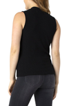 Liverpool Mock Neck Black Sleeveless Tee