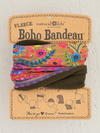 Boho Bandeau Fleece Multi Border