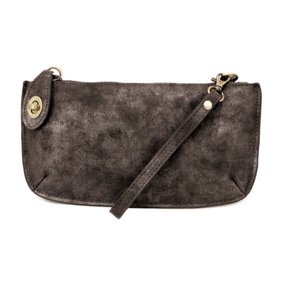 Joy Susan Lux Crossbody Wristlet in Black Lux