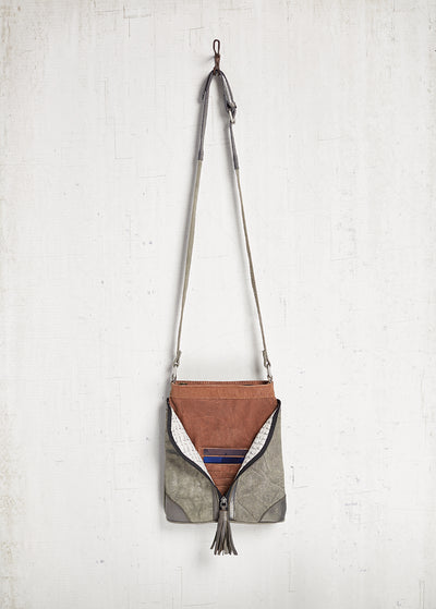 Mona B Cross City Crossbody Canvas Bag