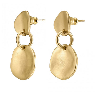 Uno De 50 Escamas (Scales) Gold Earrings