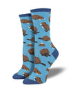 Sock Smith Womens' Dam It Blue Socks