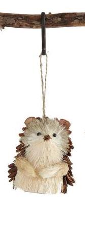 Sisal Hedgehog Holiday Ornament