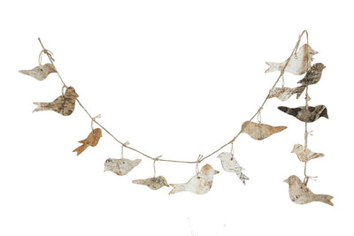 Birch Bark Bird Garland