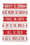 Embossed Tin Holiday Wall Decor