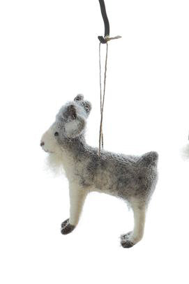 Wool Felt Goat Ornament