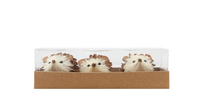 Hedgehog Pinecone and Sisal Set of 3