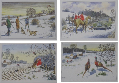 Country Christmas Card Set - Roy Perfect LTD Gifts - 1