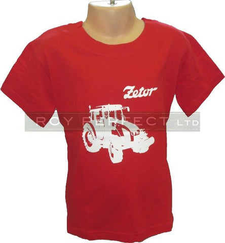 Children's Red Zetor Tractor Tshirt - Roy Perfect LTD Gifts - 1