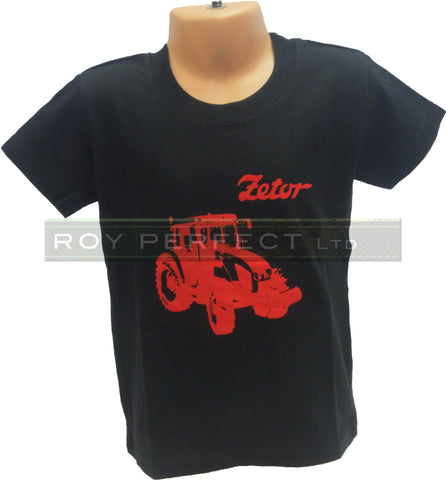Children's Black Zetor Tractor Tshirt - Roy Perfect LTD Gifts - 1