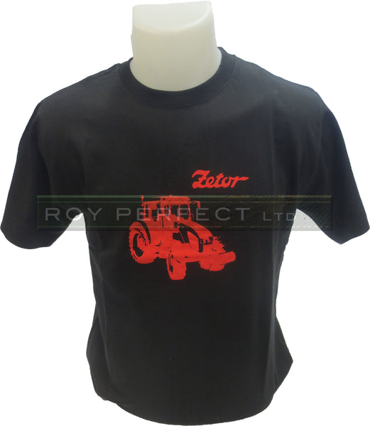 Black Zetor Tractor Tshirt - Roy Perfect LTD Gifts - 1