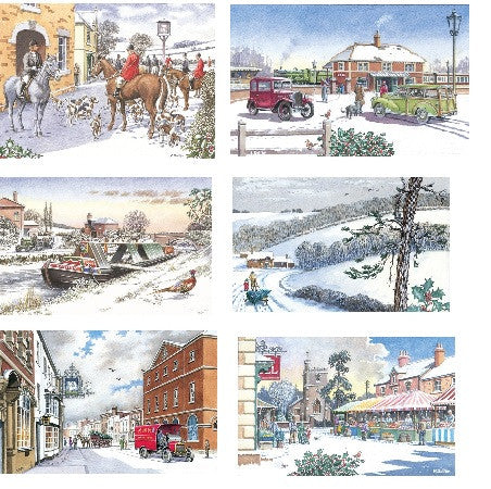 Traditional Country Christmas Card Set - Roy Perfect LTD Gifts - 1