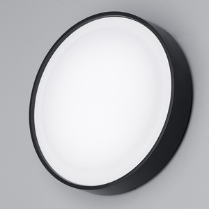 Lampsy Outdoor LED Round 27cm Bulkhead - Black - -Lampsy