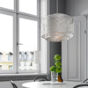 Mesh Satin Silver Pendant Light