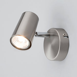Lampsy Adams Wall Spotlight - Satin Nickel-Lampsy