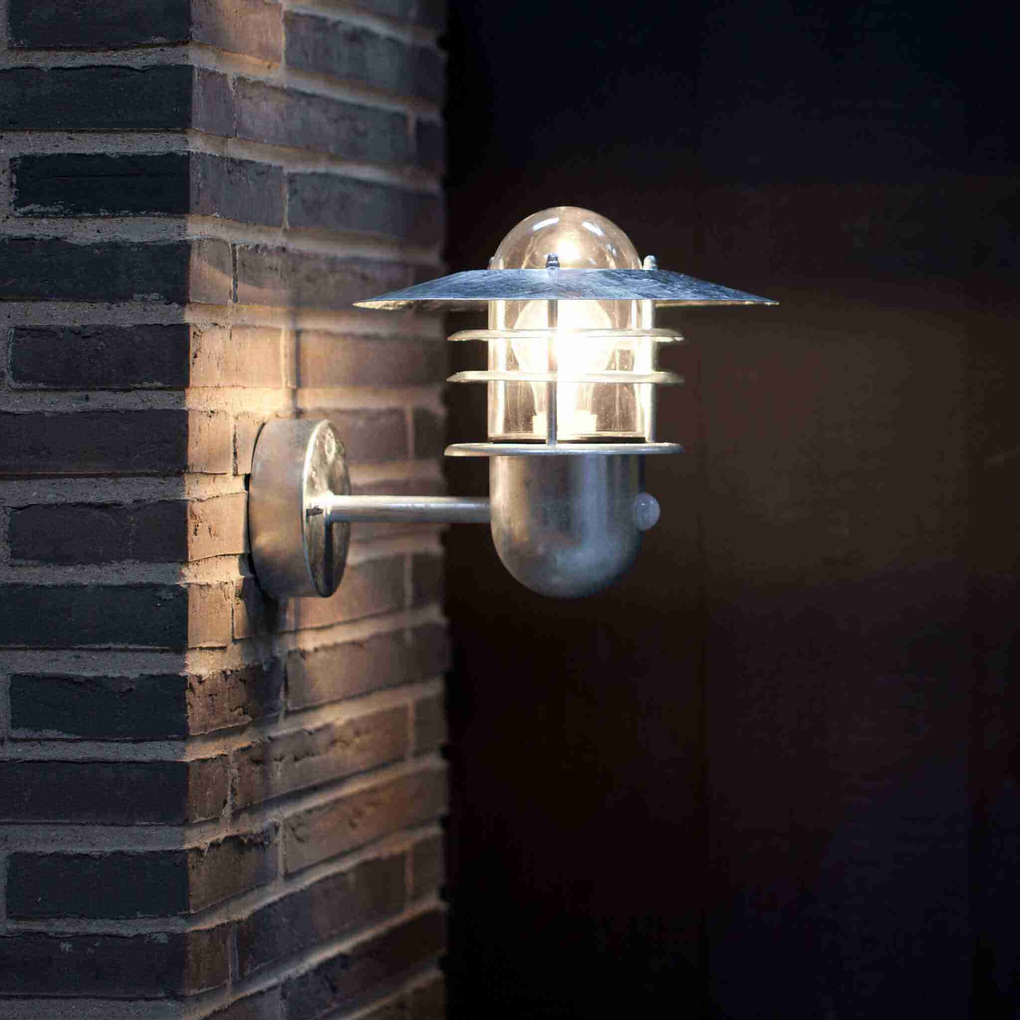 Nordlux agger galvanised steel outdoor pir motion sensor wall light outdoor sensor wall light agger collection aloadofball Images