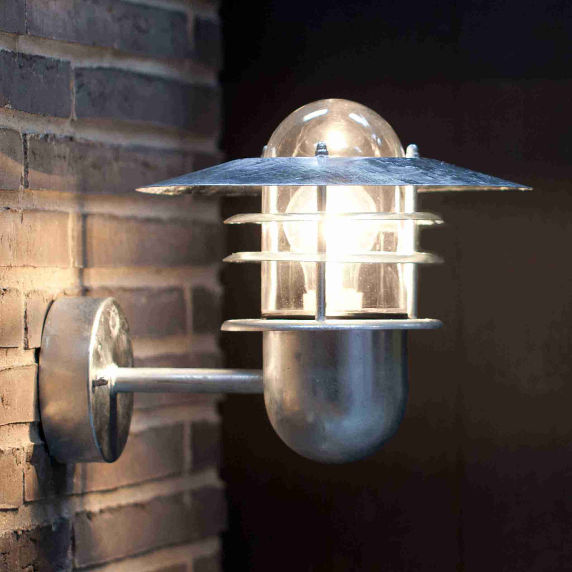 Nordlux Agger Galvanised Outdoor Wall Light - Outdoor Lighting - Lampsy