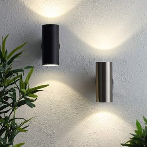 Lampsy Argo 10w LED Up/Down Outdoor Wall Light IP44 - -Lampsy