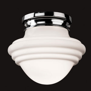 Lampsy FLR Art Deco Opaline Semi-Flush Ceiling Light - -Lampsy