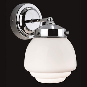 Lampsy FLR Art Deco Tiered Opaline Bathroom Wall Light - -Lampsy
