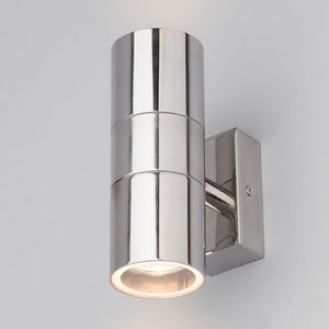 Lampsy Astor Up & Down Wall Light - Polished Steel-Lampsy