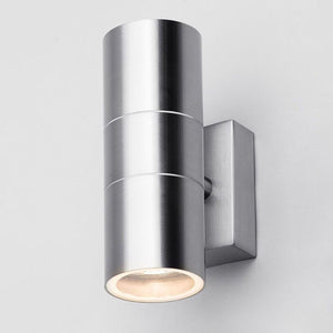 Lampsy Astor Up & Down Wall Light - Stainless Steel-Lampsy