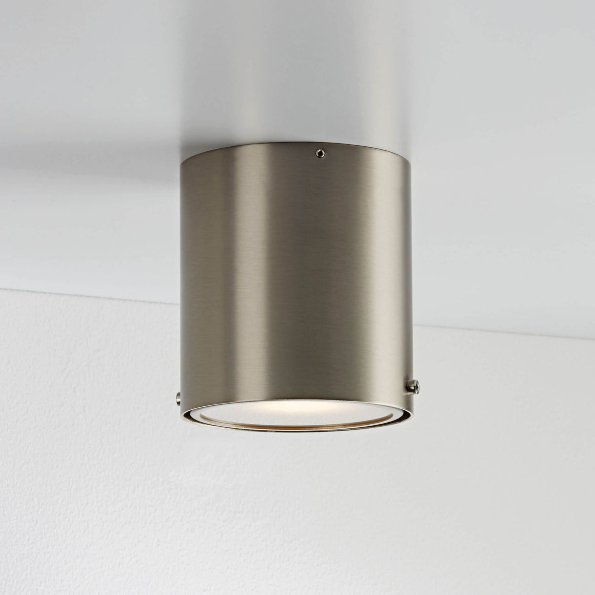 Nordlux Bathroom Surface Mounted Downlight - Brushed Steel - Bathroom - Lampsy