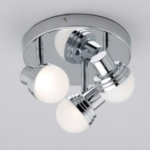 Lampsy Beau 3 Light LED Polished Chrome Round Spotlights - -Lampsy