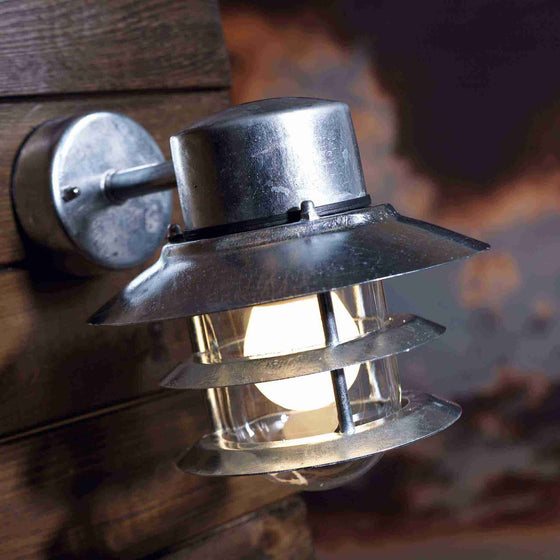 Nordlux Blokhus Galvanised Outdoor Wall Down Light - Outdoor Lighting - Lampsy