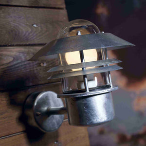 Nordlux Blokhus Wall Light - Galvanised Steel-Lampsy