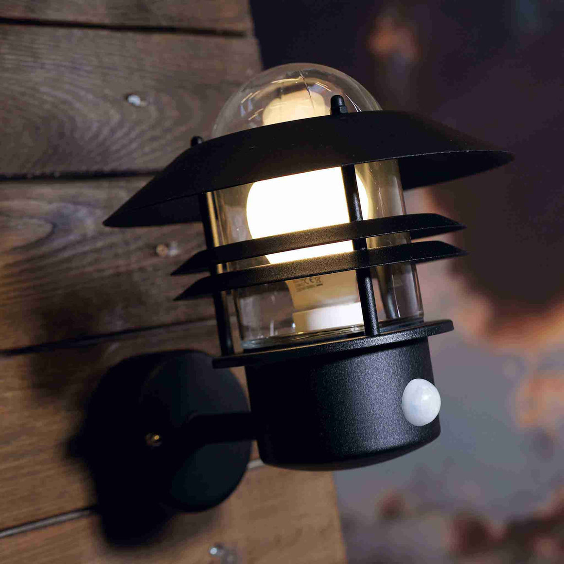 Nordlux Blokhus Black Outdoor Sensor Wall Light - Outdoor Lighting - Lampsy