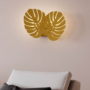 Costa Rica Leaf Brass Wall Light