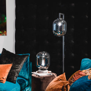 Leola Smoked Glass Table Lamp