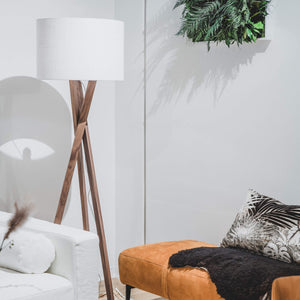 Vega Walnut Floor Lamp