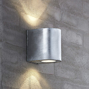 Nordlux Canto 2 LED Wall Light - Galvanised-Lampsy