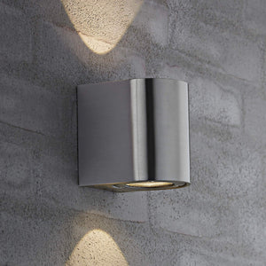Nordlux Canto 2 LED Wall Light - Stainless Steel-Lampsy